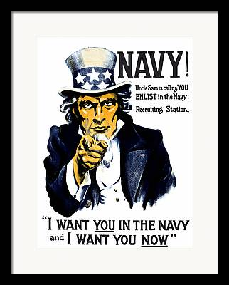 Us Navy Framed Prints
