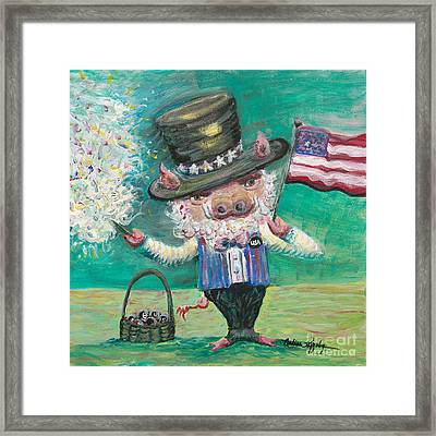 Uncle Spam Framed Print by Nadine Rippelmeyer