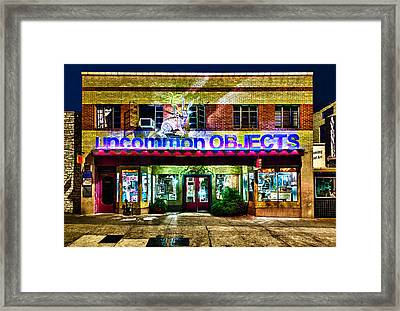 Framed Print featuring the photograph Uncommon Objects At Night by John Maffei