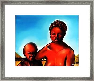 Unconditional Love Framed Print by Carmen Cordova