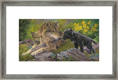 Unconditional Love Framed Print by Lucie Bilodeau