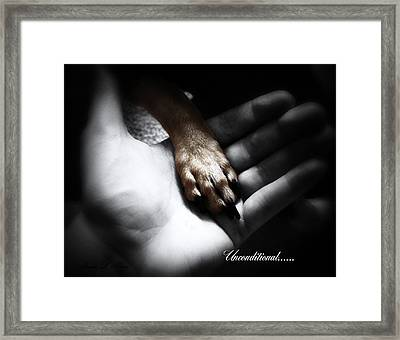 Unconditional Framed Print by Shana Rowe Jackson