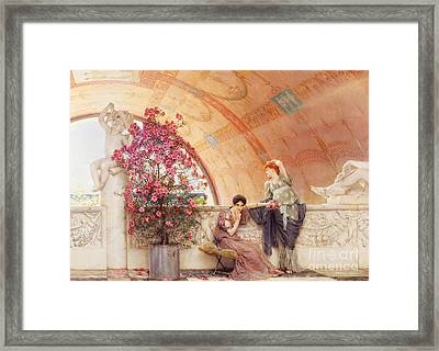 Unconscious Rivals Framed Print by Sir Lawrence Alma Tadema