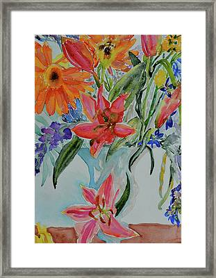 Framed Print featuring the painting Uncontainable by Beverley Harper Tinsley
