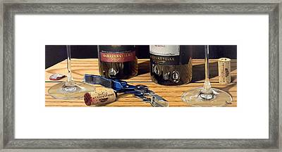 Uncork Your Passion Framed Print by Brien Cole