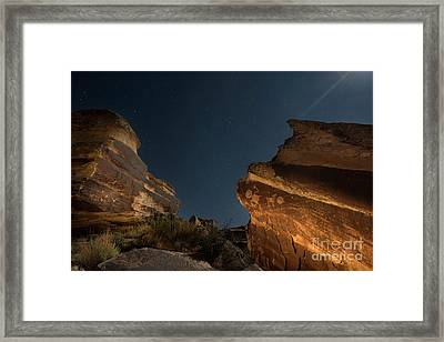 Uncounted Years Under The Moonlight Framed Print by Melany Sarafis