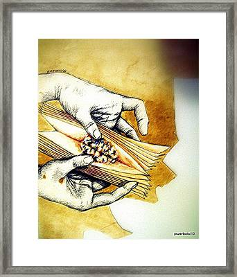 Uncover The Reasoning Framed Print by Paulo Zerbato