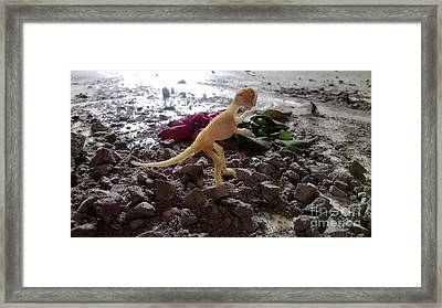 Uncovered Dinosaur Bones Yet Never One Slave Ship Found And It's 2017 Framed Print