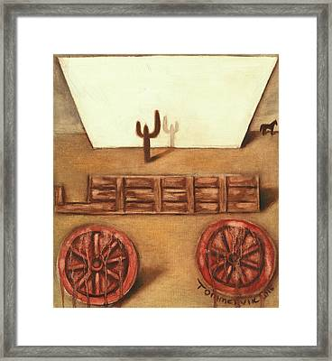 Framed Print featuring the painting Tommervik Uncovered Wagon Art Print by Tommervik