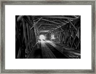 Weatherizing Uncovered Watson Mill Covered Bridge Framed Print