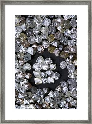 Uncut Diamonds Framed Print by Kaj R. Svensson