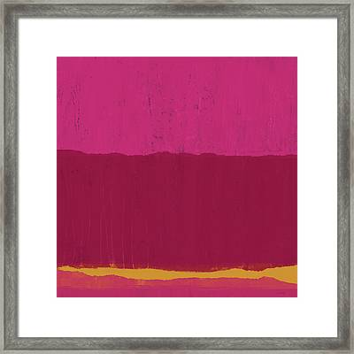 Undaunted Pink 2- Art By Linda Woods Framed Print