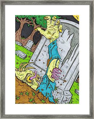 Undead Framed Print by Anthony Snyder