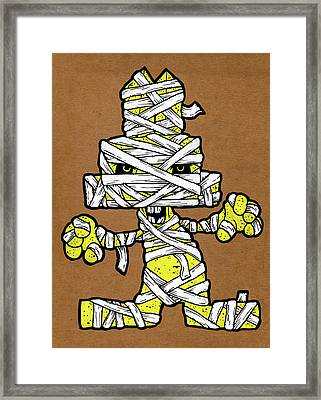 Undead Bunny Framed Print by Bizarre Bunny