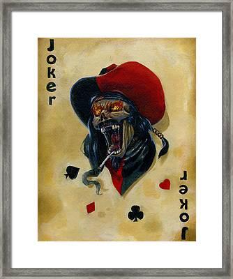 Undead Joker 4 Framed Print by Bryon Wackwitz