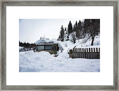 Under A Cover Framed Print