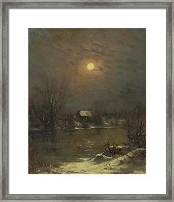Under A Full Moon Framed Print