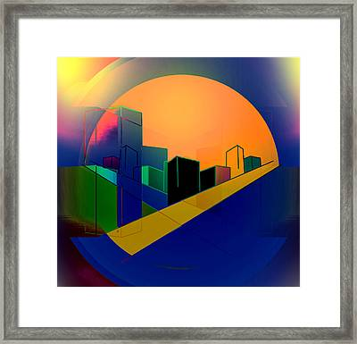 Under A Full Moon Framed Print