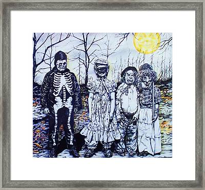 Under A Halloween Moon Framed Print by Michael Lee Summers