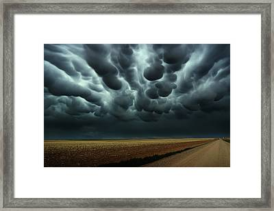 Under A Mammatus Sky Framed Print