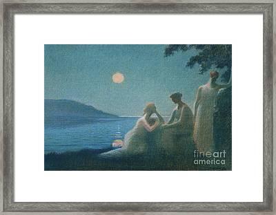 Under A Moonbeam Framed Print