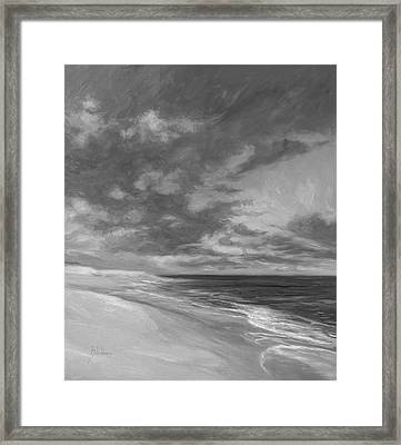 Under A Painted Sky - Black And White Framed Print by Lucie Bilodeau