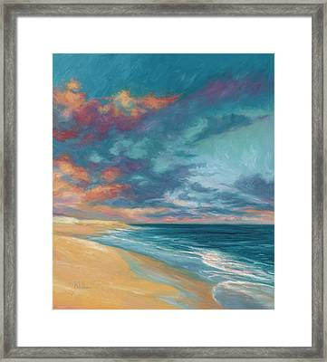 Under A Painted Sky Framed Print by Lucie Bilodeau