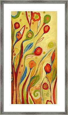 Under A Sky Of Peaches And Cream Framed Print by Jennifer Lommers