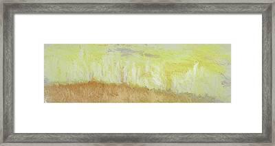 Under A Yellow Sky Framed Print
