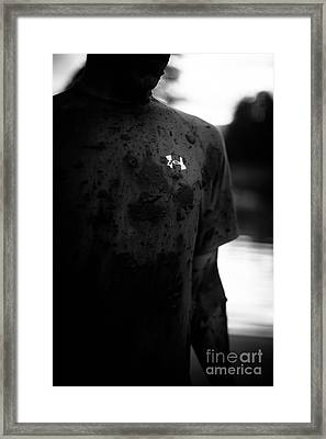 Under Armour Black And White Framed Print by Scott Sawyer