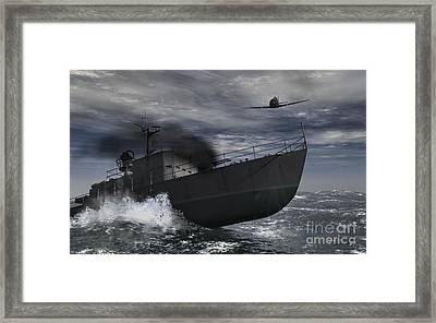 Under Attack Framed Print by Richard Rizzo