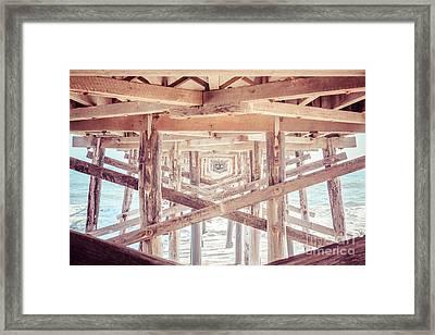 Under Balboa Pier Newport Beach Framed Print by Paul Velgos