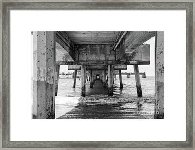 Under Belmont Veterans Memorial Pier Framed Print