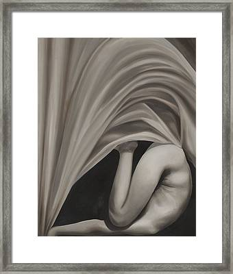 Under Cover Framed Print by Katherine Huck Fernie Howard