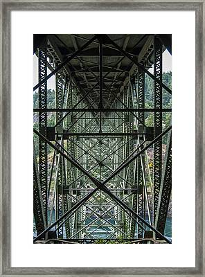 Under Deception Pass Bridge Framed Print by Pelo Blanco Photo