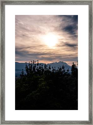 Under Flaming Skies 2 Framed Print by Andrea Mazzocchetti
