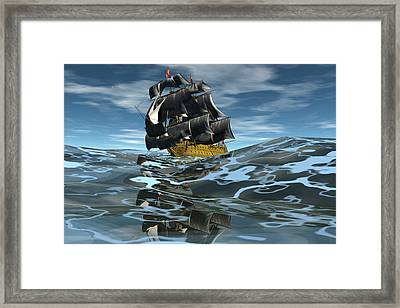 Under Full Sail Framed Print by Claude McCoy