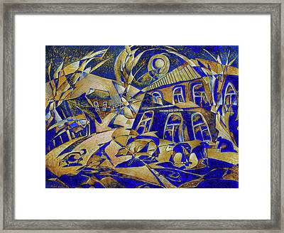 Under Gold Light Framed Print by Andrey Soldatenko