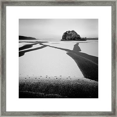 Under-ice Streams Framed Print by Przemyslaw Wielicki
