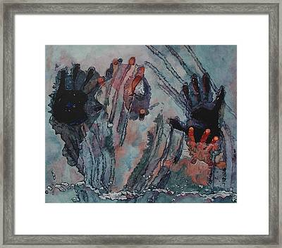 Under Ice Framed Print by Valerie Patterson