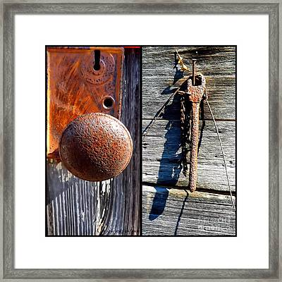 Under Lock And Key Framed Print by Christy Ricafrente