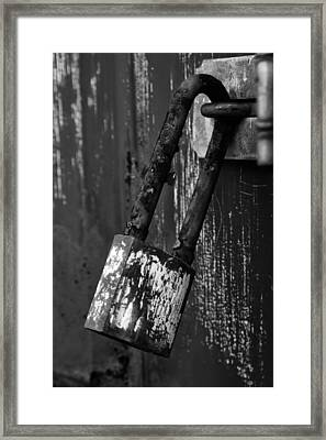 Under Lock And Key II Framed Print by Off The Beaten Path Photography - Andrew Alexander