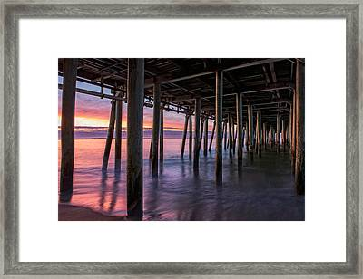 Framed Print featuring the photograph Under Old Orchard Pier by Expressive Landscapes Fine Art Photography by Thom