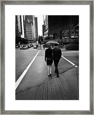 Under One Roof- By Linda Woods Framed Print