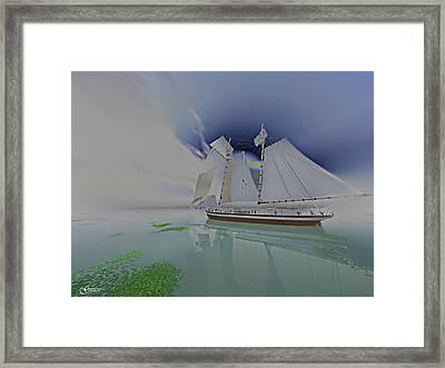 Under Pastel Skies Framed Print by Julie Grace