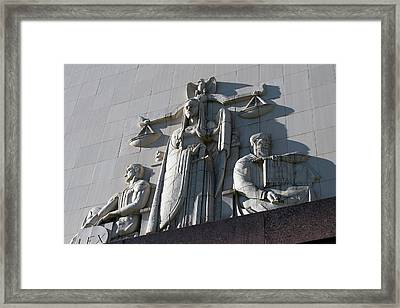 Under Scales Of Justice Framed Print