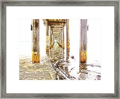 Under Scripps Pier Framed Print