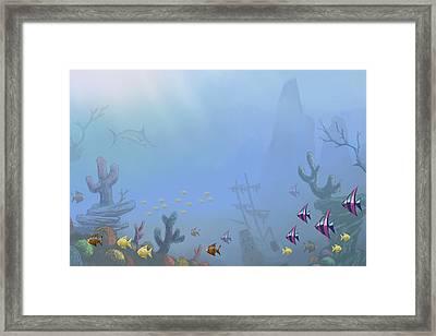 Under Sea 01 Framed Print