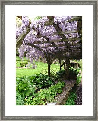 Under The Arbor  Framed Print