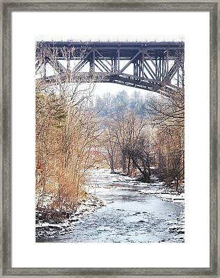 Under The Arch Framed Print by Ellen Levinson
